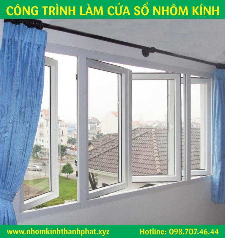 Cửa sổ nhôm kính đẹp quận Bình Tân