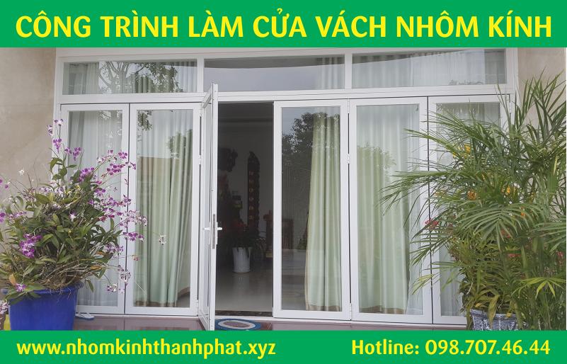Làm cửa nhôm kính đi đẹp quận Bình Tân