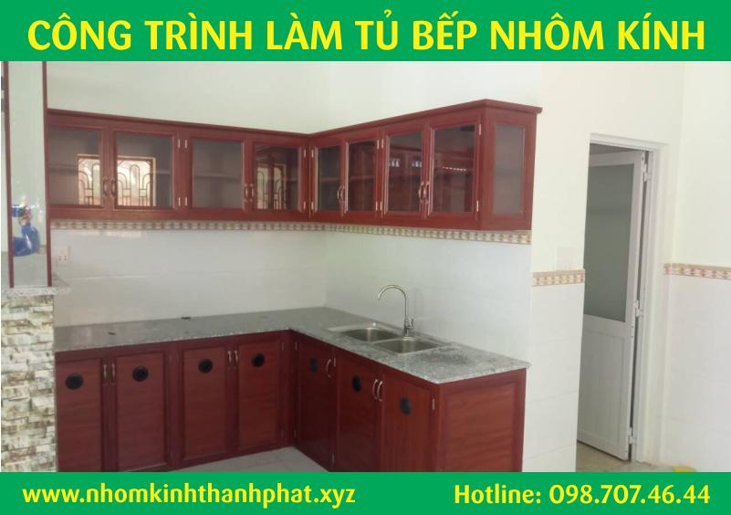 Mẫu tủ bếp giã gỗ đẹp quận Bình Tân