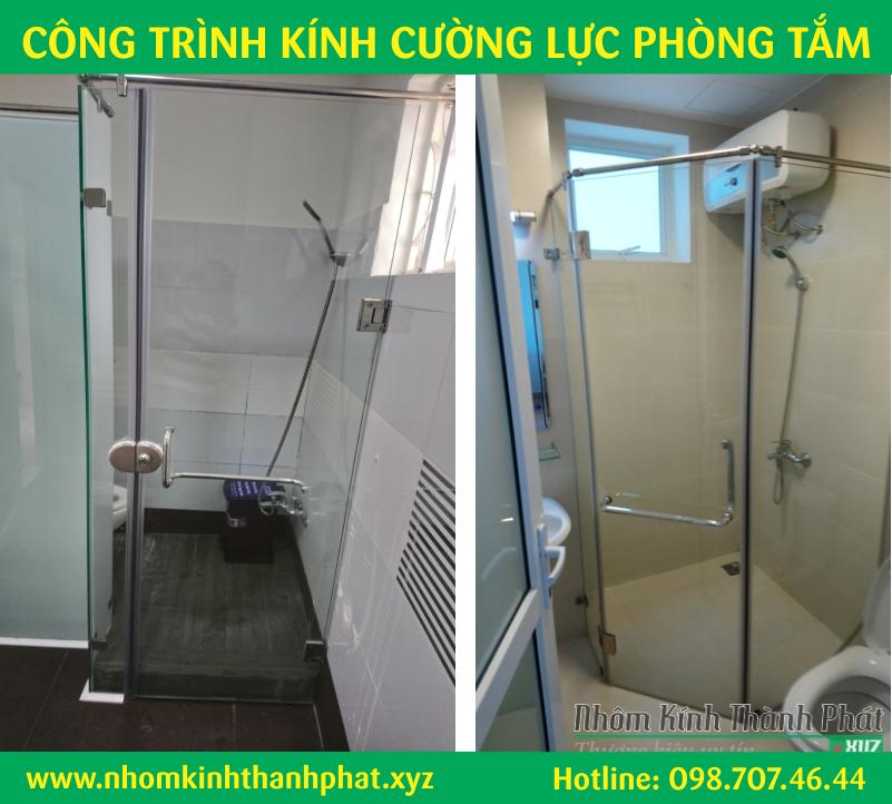 Làm vách kính cửa phòng tắm wc quận Bình Tân